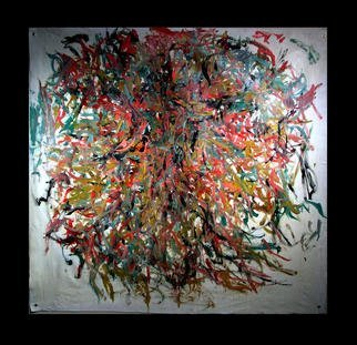 Richard Lazzara: 'MIND KNOTS', 1972 Oil Painting, Geometric. MIND KNOTS 1972 is from the' KNOT ART oil paintings group' found only at