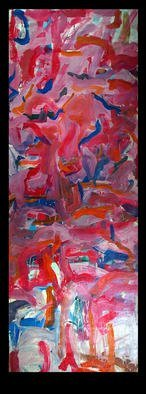 Culture Oil Painting by Richard Lazzara Title: MOON TALES, created in 1974