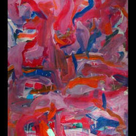Richard Lazzara: 'MOON TALES', 1974 Oil Painting, Culture. Artist Description: MOON TALES 1974  is a sumie calligraphic painting from the HAIKU KOAN  collection as found at