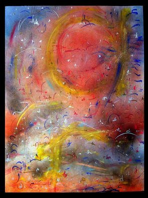 Artist: Richard Lazzara - Title: MOTHER EARTH - Medium: Calligraphy - Year: 1987