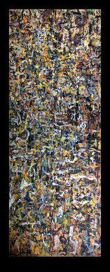 Culture Oil Painting by Richard Lazzara Title: MOUNTAIN LEANS ON VOID, created in 1974