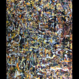 Richard Lazzara Artwork MOUNTAIN LEANS ON VOID, 1974 Oil Painting, Culture