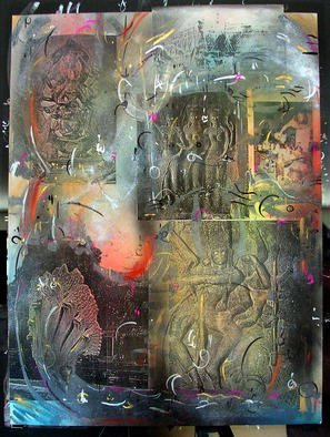 Richard Lazzara Artwork NAGARAJA, 1985 Mixed Media, Inspirational