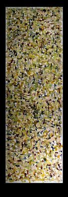 Culture Oil Painting by Richard Lazzara Title: NIGHT OVER CITY, created in 1974