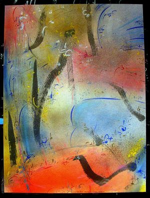 Richard Lazzara Artwork PATTERN LOCK, 1985 Mixed Media, Inspirational