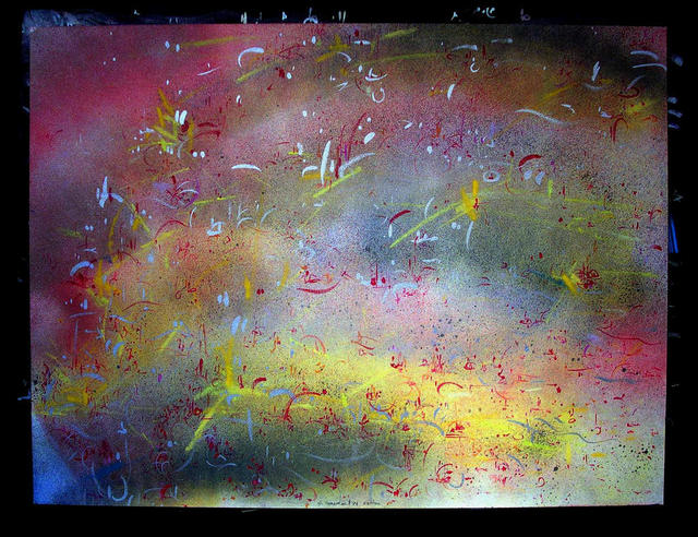 Richard Lazzara  'RAPIDS', created in 1984, Original Pastel.