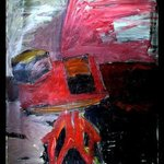 Red Art Desk, Richard Lazzara