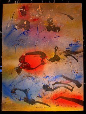 Richard Lazzara Artwork RED BUBBLE, 1985 Mixed Media, Inspirational