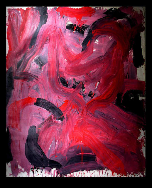 Richard Lazzara  'RED HOT FIRE', created in 1973, Original Pastel.