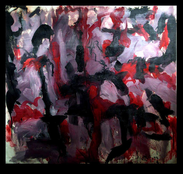 Richard Lazzara  'RED HUNT', created in 1973, Original Pastel.