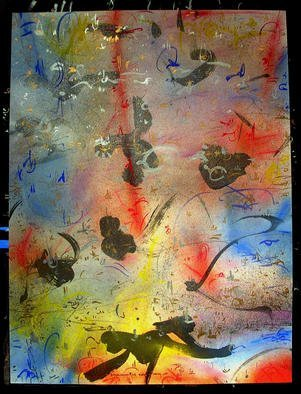 Richard Lazzara Artwork RED PATH UP, 1985 Mixed Media, Inspirational