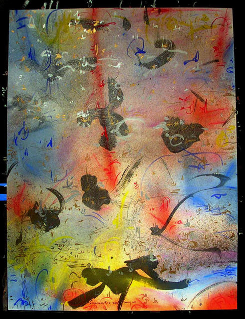Richard Lazzara  'RED PATH UP', created in 1985, Original Pastel.