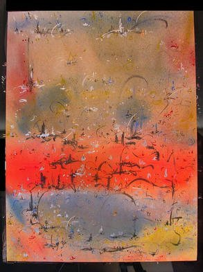 Richard Lazzara Artwork RED RIVER, 1985 Mixed Media, Inspirational