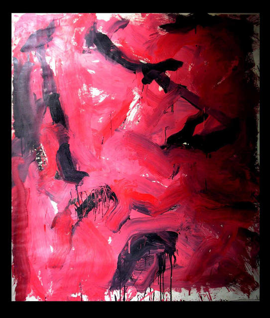 Richard Lazzara  'RED ROCK PASSION', created in 1973, Original Pastel.