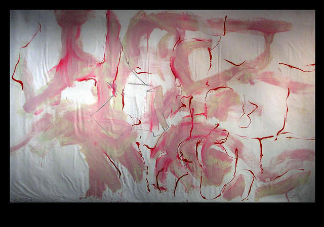 Richard Lazzara  'RED STAR FIRE', created in 1973, Original Pastel.
