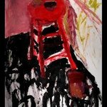 RED STOOL By Richard Lazzara