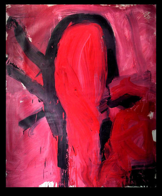 Richard Lazzara  'RED THRUST', created in 1973, Original Pastel.