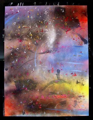 Artist: Richard Lazzara - Title: RELEASING - Medium: Calligraphy - Year: 1987