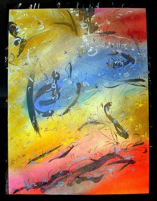 Artist: Richard Lazzara - Title: RESIDE IN YONI - Medium: Calligraphy - Year: 1987