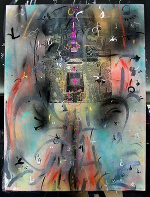 Richard Lazzara Artwork RISE OF SIVA LINGAM, 1985 Mixed Media, Inspirational