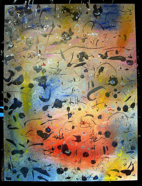 Richard Lazzara  'RIVER WAVES', created in 1985, Original Pastel.