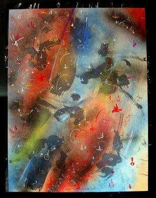 Artist: Richard Lazzara - Title: SATISFIED HUMANITY - Medium: Calligraphy - Year: 1987