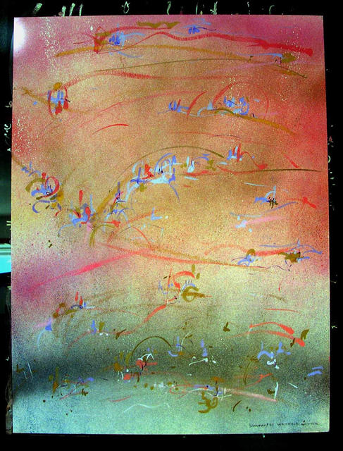 Richard Lazzara  'SEETHING KETTLE', created in 1985, Original Pastel.