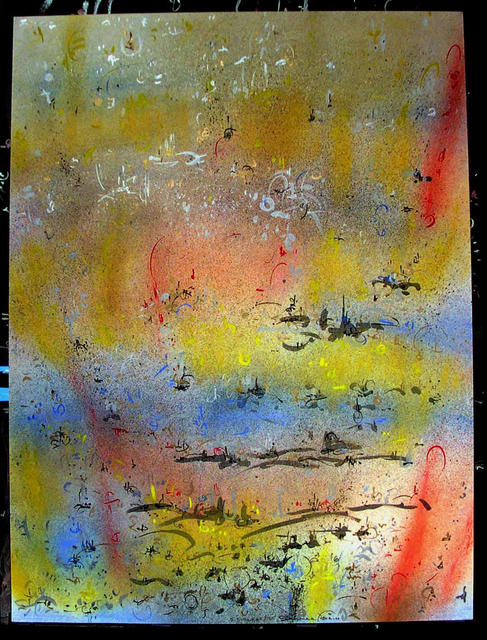 Richard Lazzara  'SOLAR STAIN', created in 1985, Original Pastel.