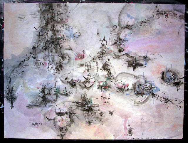 Richard Lazzara  'SPACE WITHIN', created in 1975, Original Pastel.