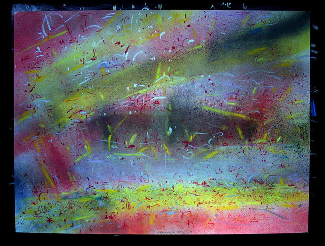 Richard Lazzara  'SPIRIT ONE', created in 1984, Original Pastel.