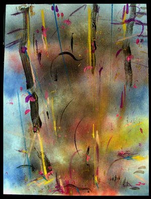 Artist: Richard Lazzara - Title: STRONG ARMED - Medium: Calligraphy - Year: 1984