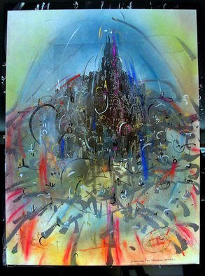 Richard Lazzara Artwork SUMERU ANGKOR, 1985 Mixed Media, Inspirational