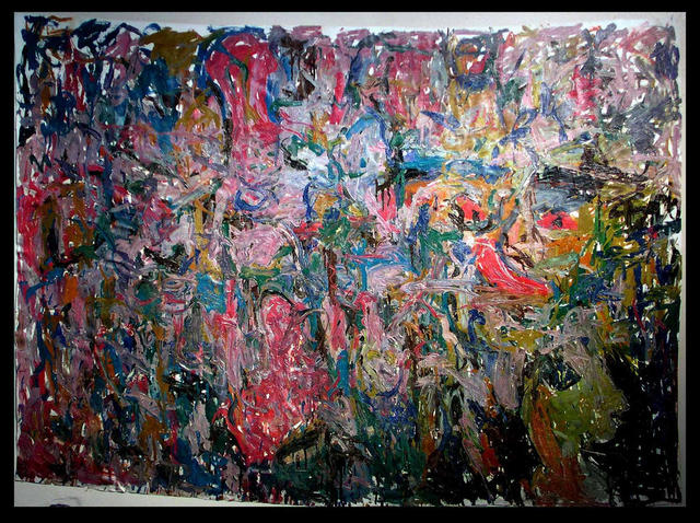 Richard Lazzara  'THOUSANDS OF YEARS AGO CAVE ART', created in 1972, Original Pastel.