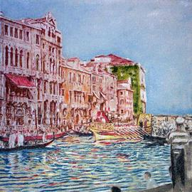 Richard Lazzara: 'Venetia Lazzara Grande Canal Regatta', 2004 Other Painting, Culture. Artist Description: Venetia Lazzara Grande Canal Regatta 2004 from the folio