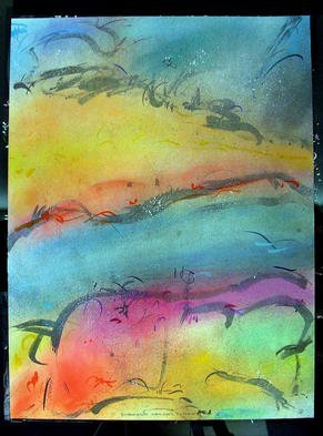 Richard Lazzara Artwork WATCHING CURRENTS, 1985 Mixed Media, Inspirational
