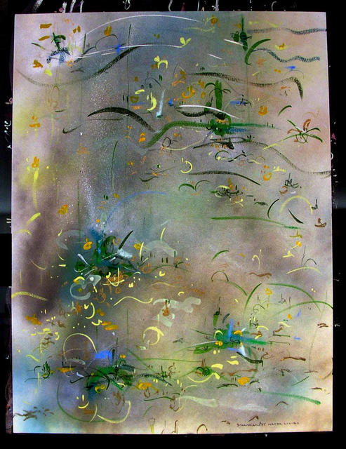 Richard Lazzara  'WATER LILIES', created in 1985, Original Pastel.