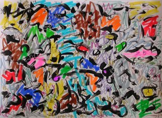 Richard Lazzara: 'Wild Man 6150', 2008 Calligraphy, Visionary.  Art for the Soul by