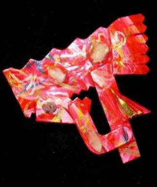 Richard Lazzara Artwork all connected pin, 1989 Mixed Media Sculpture, Fashion