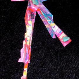 Richard Lazzara: 'alpine pin ornament', 1989 Mixed Media Sculpture, Fashion. Artist Description: alpine pin ornament from the folio LAZZARA ILLUMINATION DESIGN is available at