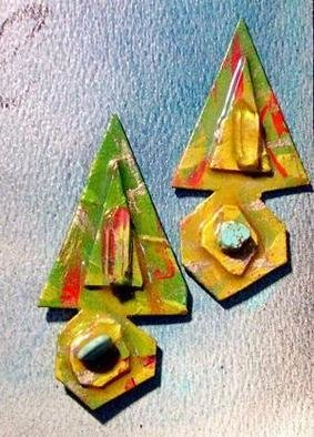 Richard Lazzara Artwork arrow heads ear ornaments, 1989 Mixed Media Sculpture, Fashion