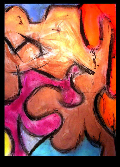 Richard Lazzara  'Art Not Appropriate For This Gallery', created in 1990, Original Pastel.