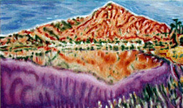 Richard Lazzara  'Arunachala World Heritage Siva Site', created in 1999, Original Pastel.