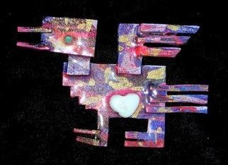 Richard Lazzara: 'assyrian figure pin ornament', 1989 Mixed Media Sculpture, Fashion. Artist Description: assyrian figure pin ornament from the folio LAZZARA ILLUMINATION DESIGN is available at