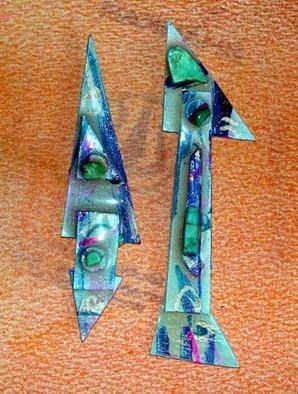 Richard Lazzara Artwork asymmetry notes ear ornaments, 1989 Mixed Media Sculpture, Fashion