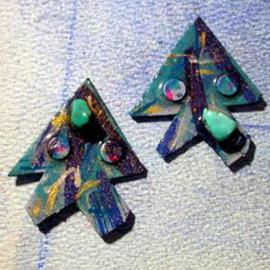 beings ear ornaments  By Richard Lazzara