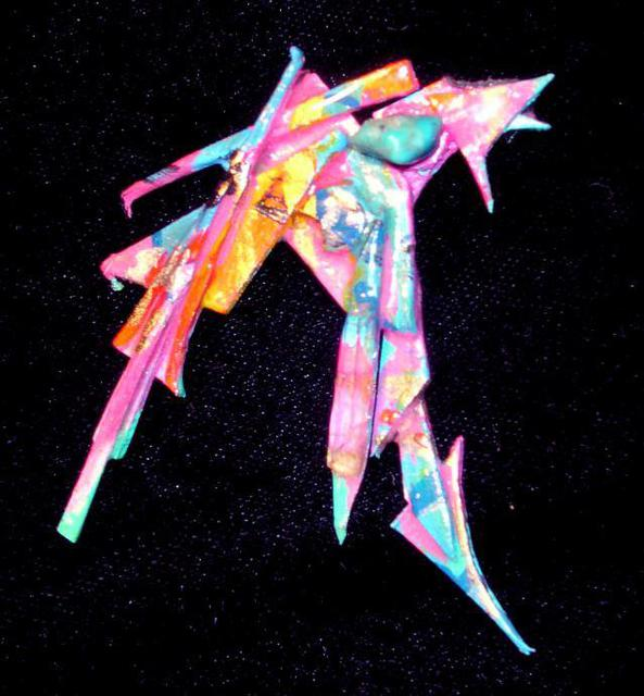 Richard Lazzara  'Best Wishes Pin Ornament', created in 1989, Original Pastel.
