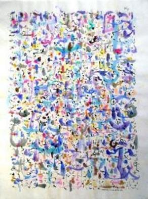 Artist: Richard Lazzara - Title: bliss - Medium: Calligraphy - Year: 1974