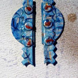 blue mystic ear ornaments  By Richard Lazzara