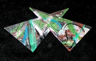 Richard Lazzara Artwork bow tie pin ornament, 1989 Mixed Media Sculpture, Fashion