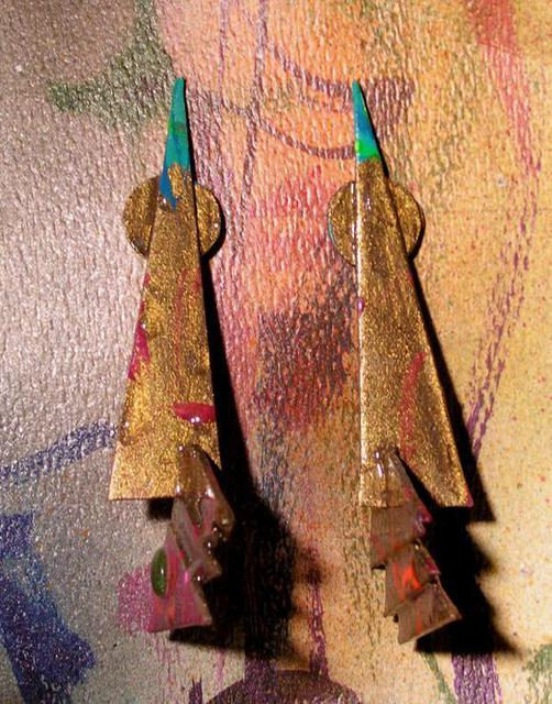 Richard Lazzara  'Bronze Age Ear Ornaments', created in 1989, Original Pastel.